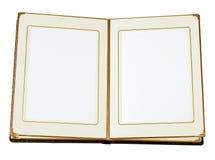 被开张的册页空 免版税库存照片