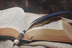 被开张的圣经圣洁 库存图片