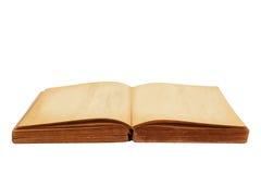 被开张的旧书 免版税库存图片
