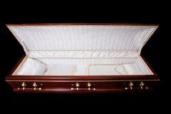 被开张的棺材 库存图片