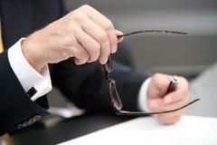 被开张的眼镜 免版税库存照片
