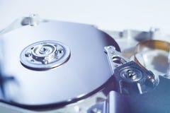 被开张的硬盘驱动器 图库摄影