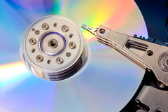被开张的磁盘驱动器坚硬 免版税图库摄影