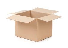 被开张的程序包配件箱 库存图片