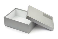 被开张的空白配件箱标签 免版税图库摄影