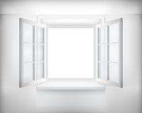 被开张的视窗 向量例证