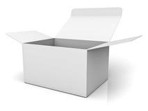 被开张的配件箱纸板 免版税库存图片