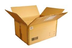 被开张的配件箱 库存图片
