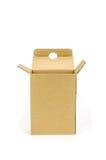 被开张的配件箱纸板 库存照片
