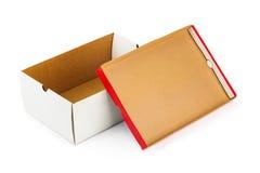 被开张的配件箱 免版税图库摄影