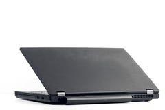 被开张的黑色膝上型计算机 免版税库存照片