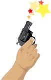 被开的枪 免版税图库摄影