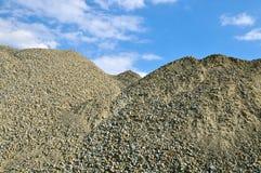 被开采的石渣矿站点 免版税库存图片