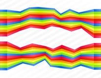 被弄乱的彩虹镶边墙壁 免版税库存照片
