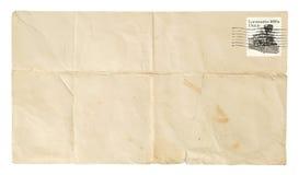 被弄皱的信包 免版税库存照片