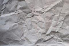 被弄皱的包装纸空白纸  免版税库存照片