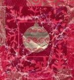 被弄皱的和变老的圣诞节礼品纸张 免版税库存照片
