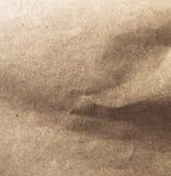 被弄皱的工艺纸纹理  免版税库存图片