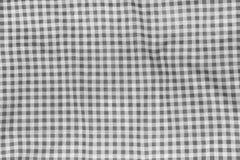 被弄皱的桌布。 免版税库存照片