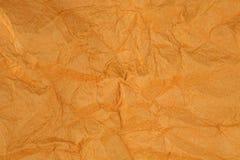 被弄皱的棕色桑树纸纹理 库存照片