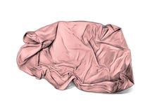 被弄皱的毛巾或毯子谎言顶视图许多折叠 免版税库存照片