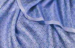 被弄皱的泰国丝织物 免版税图库摄影