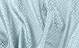 被弄皱的泰国丝织物 库存图片