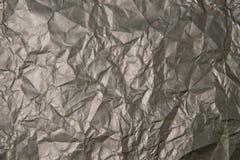 被弄皱的灰色纸纹理 免版税库存图片