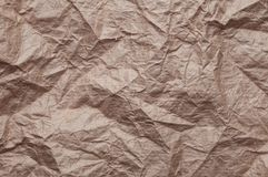 被弄皱的牛皮纸 r 免版税图库摄影