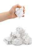 被弄皱的现有量纸张 免版税库存图片