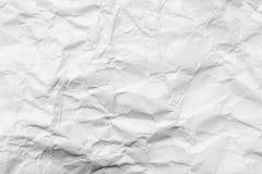 被弄皱的白皮书抽象背景  免版税库存图片