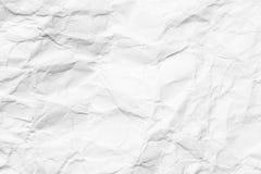 被弄皱的白皮书抽象背景  免版税库存照片