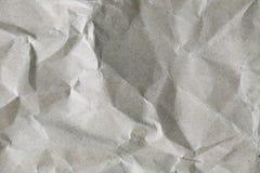 被弄皱的白皮书纹理 库存图片