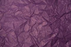 被弄皱的紫色纸纹理 图库摄影