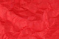 被弄皱的红色桑树纸纹理 库存照片