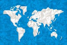 被弄皱的纸世界 库存图片