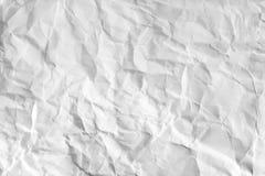 被弄皱的纸张 免版税库存图片