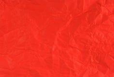 被弄皱的纸猩红色 库存照片