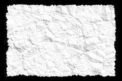 被弄皱的纸白色 免版税库存照片