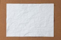 被弄皱的纸白色 免版税库存图片