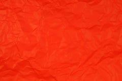 被弄皱的纸红色 免版税库存照片