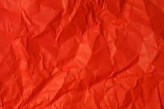 被弄皱的纸红色 库存图片