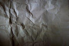 被弄皱的纸纹理 免版税图库摄影