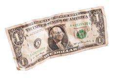 被弄皱的纸美元 免版税图库摄影