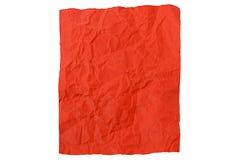 被弄皱的纸部分红色 图库摄影