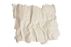 被弄皱的纸部分 库存照片
