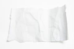 被弄皱的纸部分 免版税库存图片