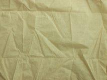 被弄皱的纸餐巾 免版税图库摄影