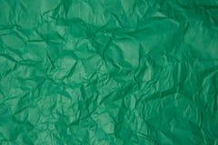 被弄皱的绿皮书纹理 库存照片