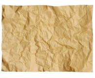 被弄皱的老纸 库存图片